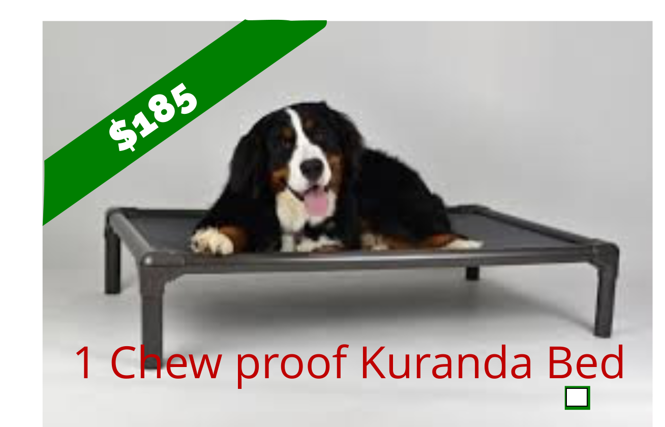 "Chew Proof ""Kuranda"" Beds   (Medium- Aluminum)"