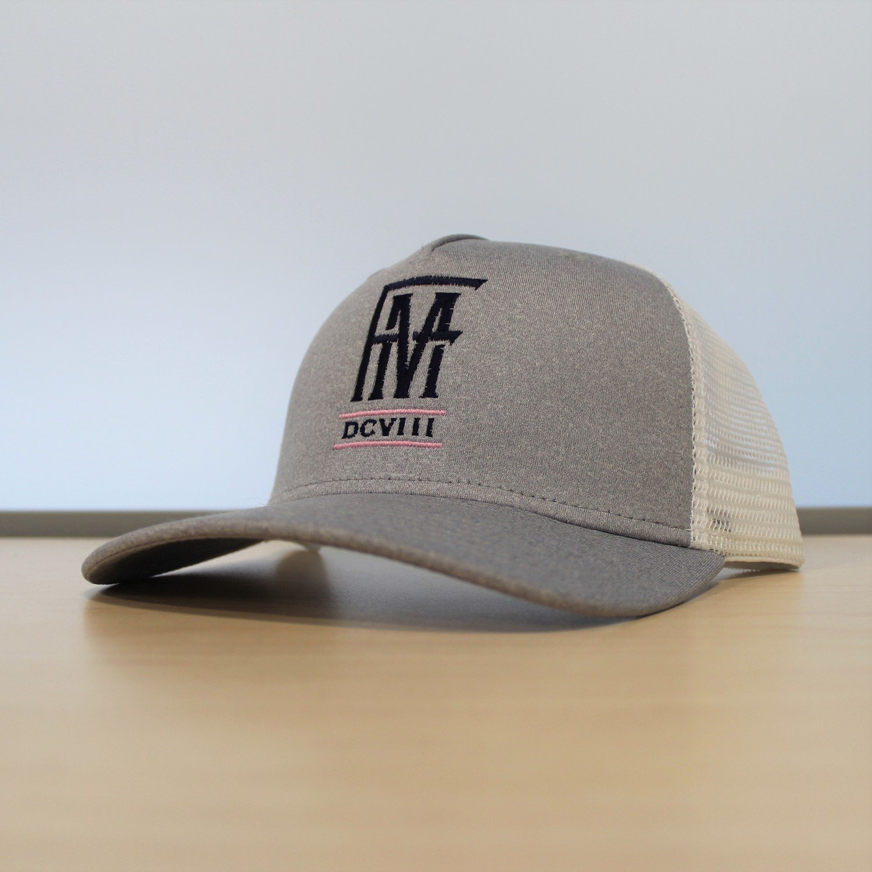 FM Baseball Cap - Gray/White