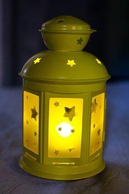 Candle Lantern - Yellow Star