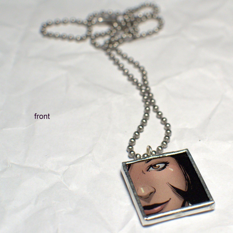 Comic Book Pendant - Brown Eyed Girl