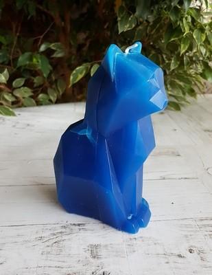 Свеча-скелетик Киса (синяя)