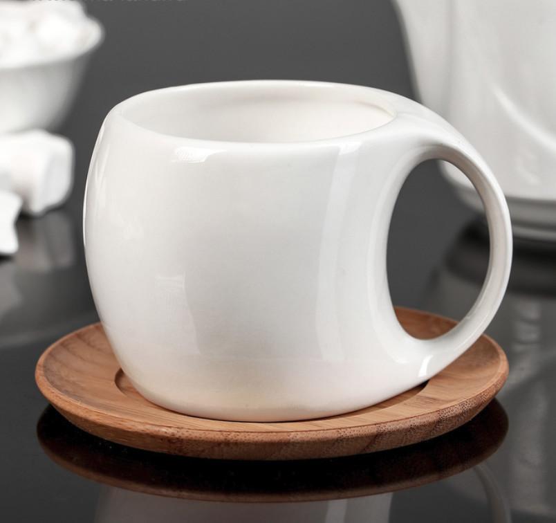 """Чайная пара """"Эстет"""", деревянное блюдце, 220 мл"""
