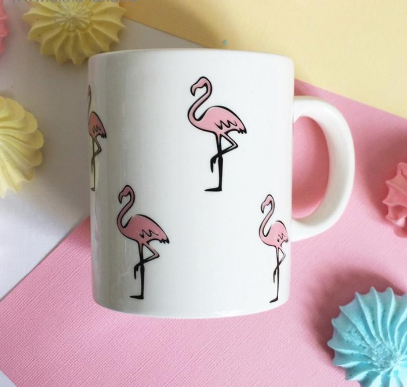 """Кружка """"Розовый фламинго"""", 300 мл"""