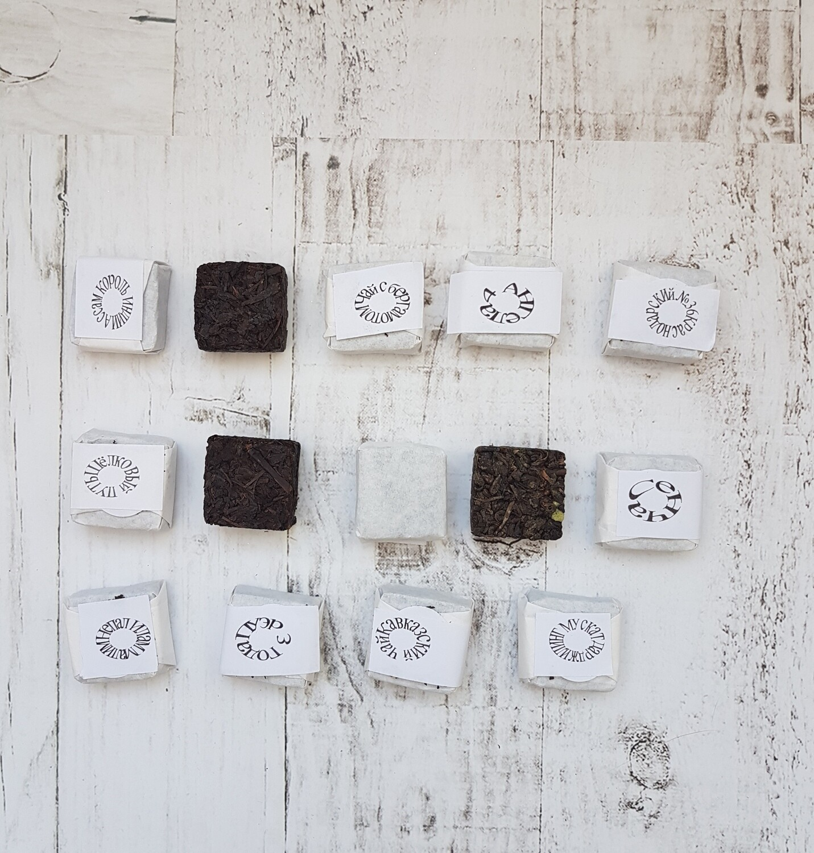 14 видов чая в кубиках, россыпью