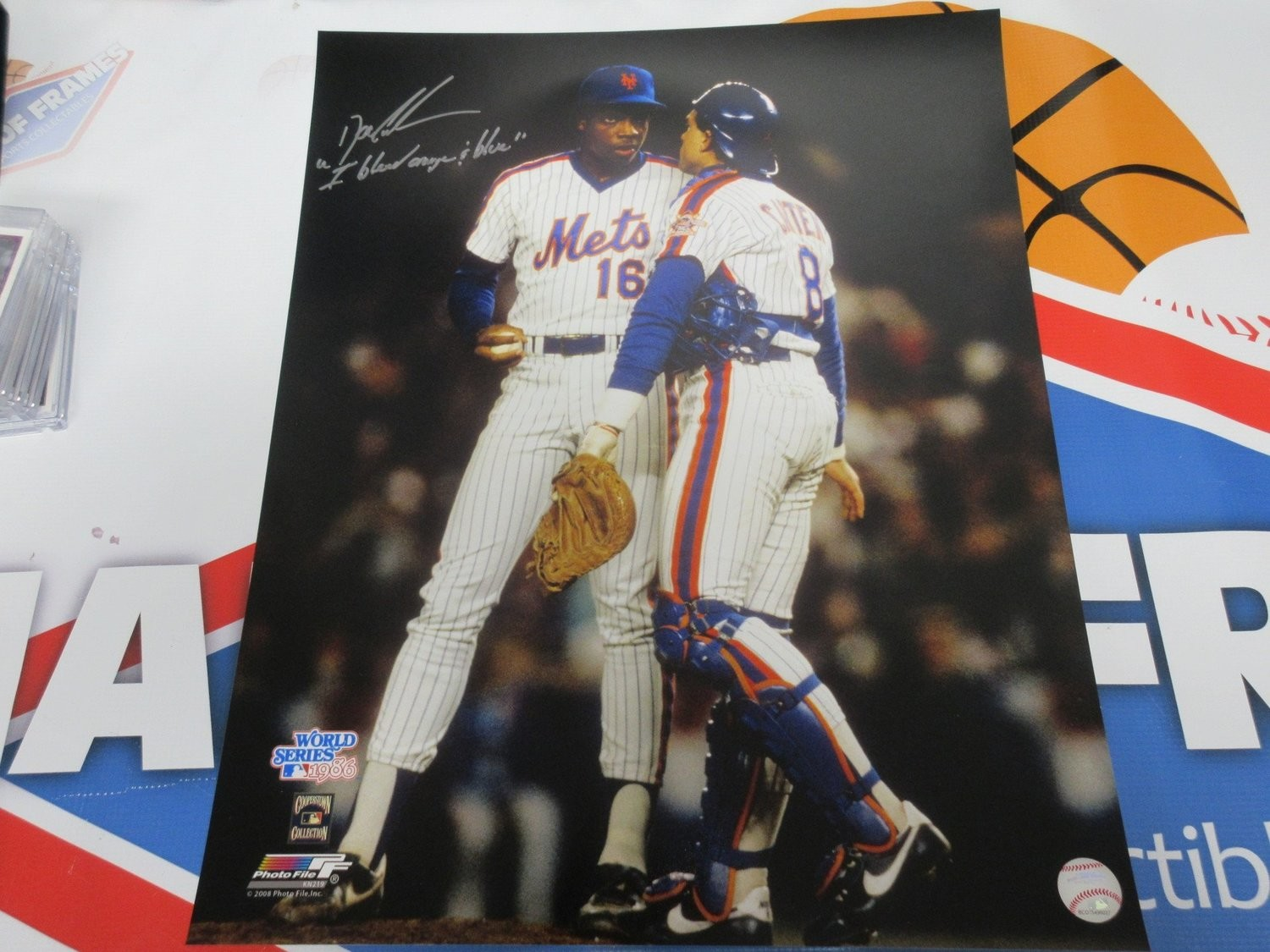 online store b989b 9c4df DWIGHT DOC GOODEN SIGNED METS WITH CARTER INSC