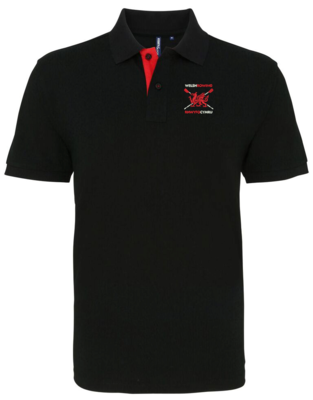 Welsh Rowing Classic Fit Contrast Polo