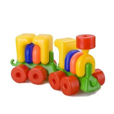 Детский конструктор Паровоз с вагоном ТМ TOYS PLAST ИП.02.000