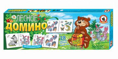 Развивающая игра Домино Русский Стиль Лесное 03195