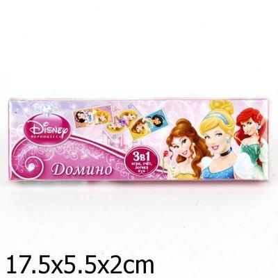 Домино детское пластиковое Принцессы 3в1 УМКА  060414