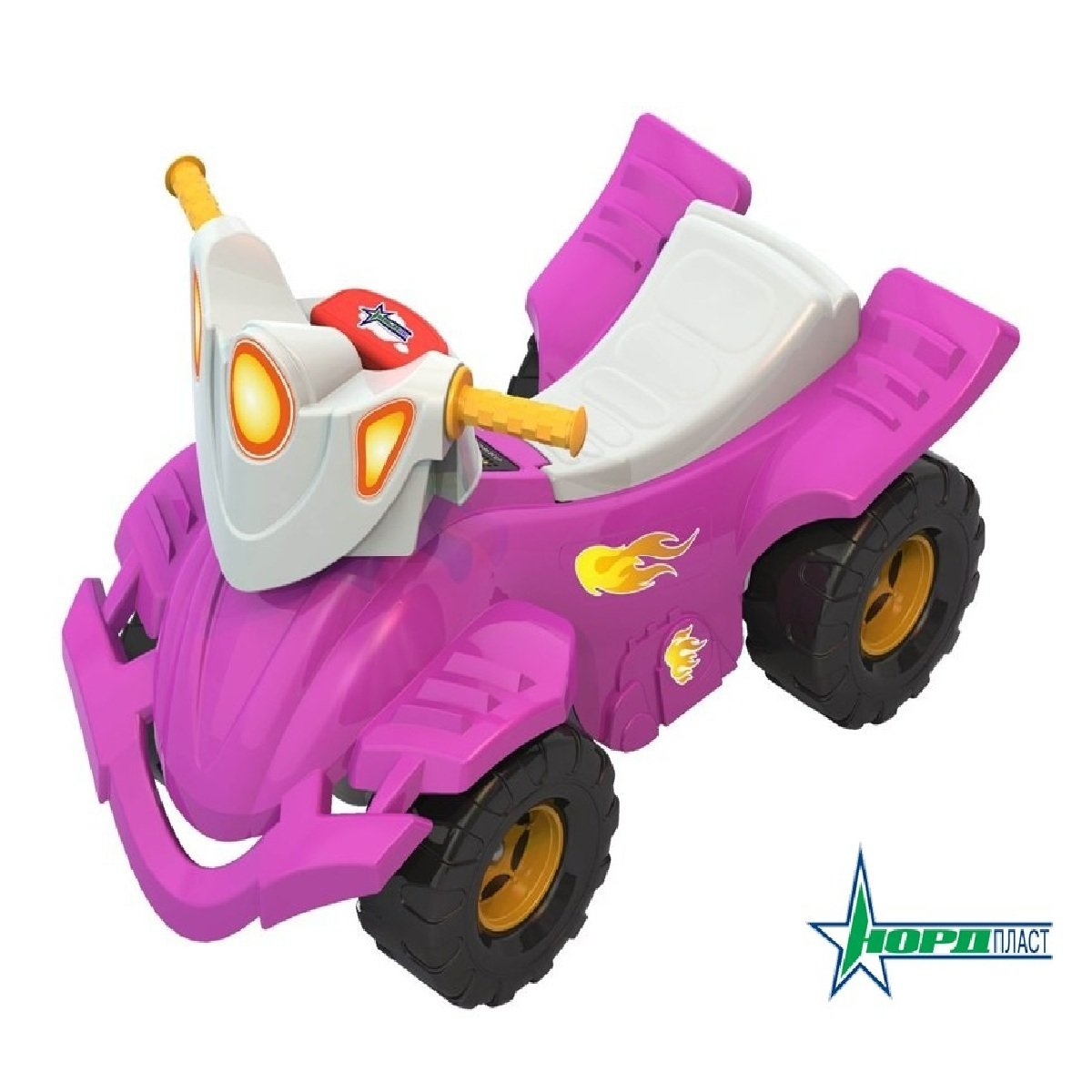 """Каталка-толокар """"Квадроцикл"""" (розовый) Нордпласт 431002/1"""