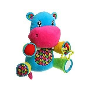 Мягкая игрушка-погремушка Бегемот BABY YOU BB1282