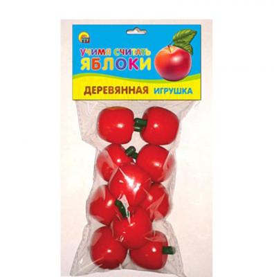 Игрушка деревянная Яблоки Рыжий кот ИД-5922