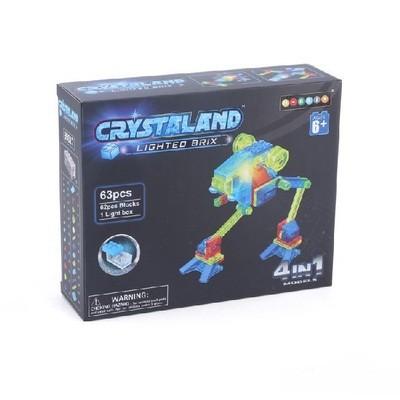 Светящийся Конструктор Луноход  4 в 1 63 дет. Crystaland 99017