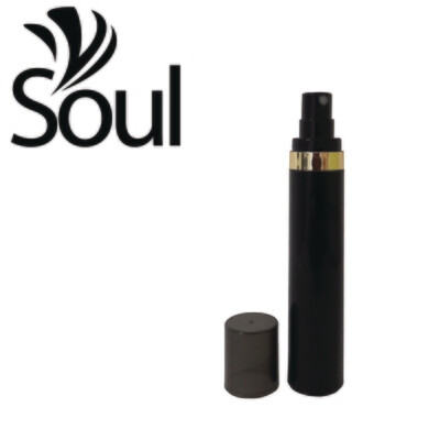 50ml - Round Plastic Black Bottle Goldline Airless Spray