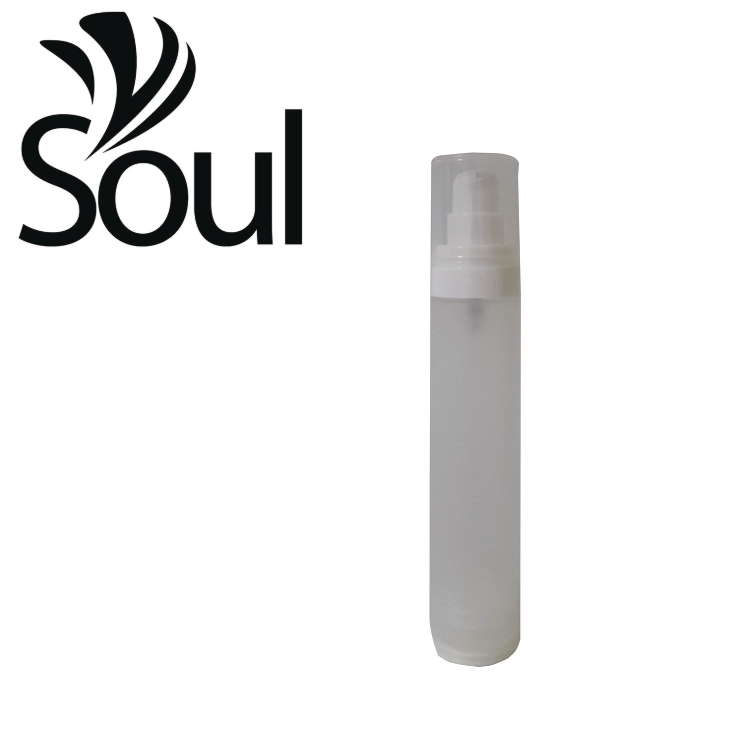 50ml - Round Plastic Frosted Bottle with Airless Pump