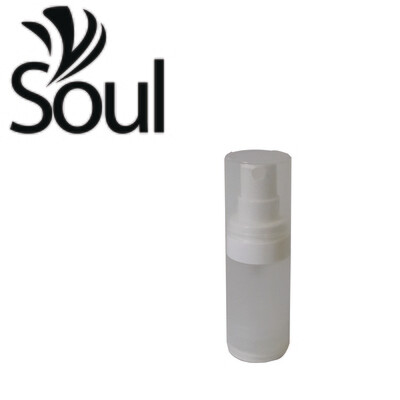 15ml - Round Plastic Frosted Bottle with Airless Spray