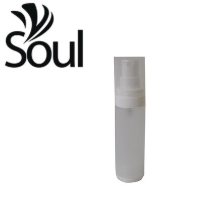 30ml - Round Plastic Frosted Bottle with Airless Spray
