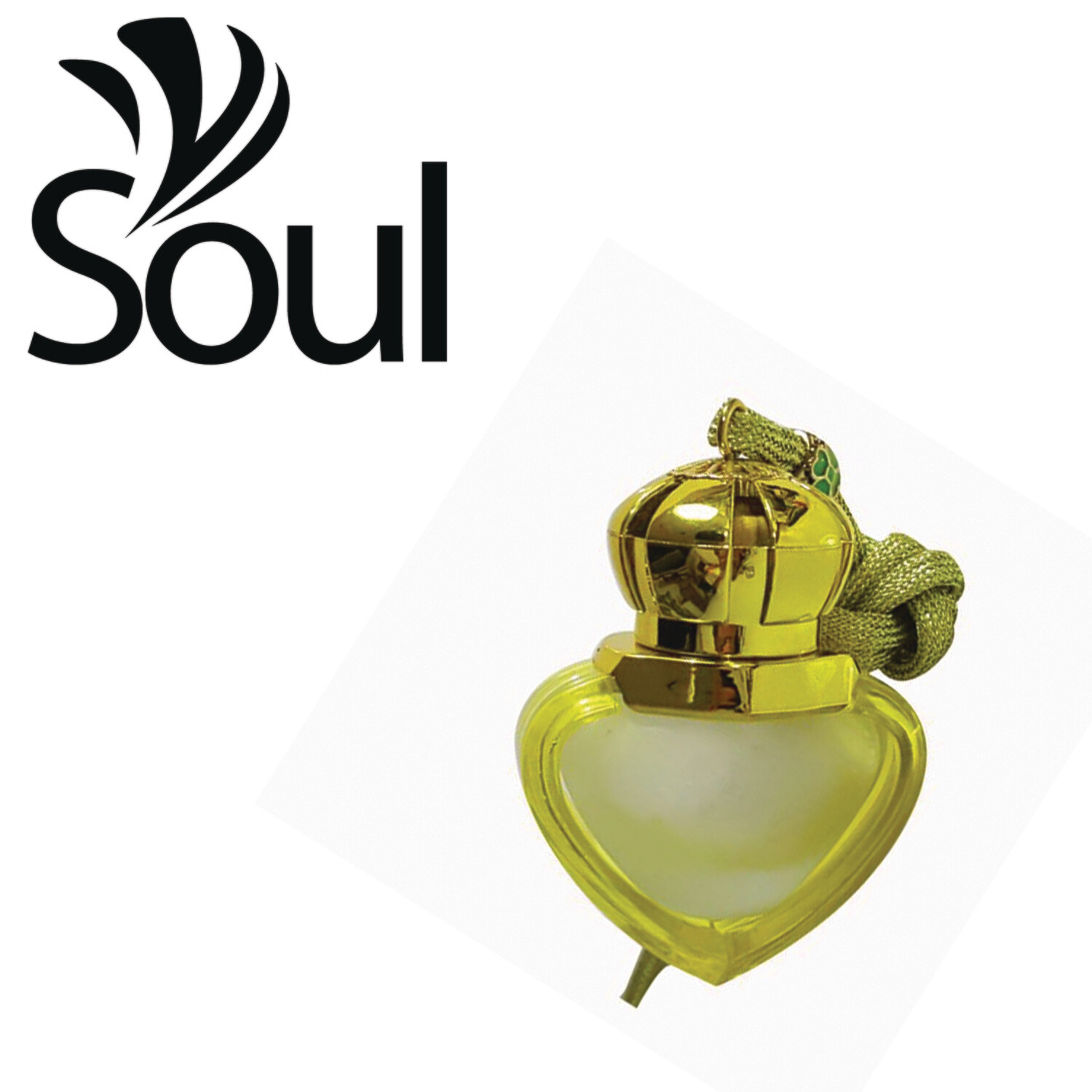 8ml - Car Perfume Bottle Love Shape Yellow