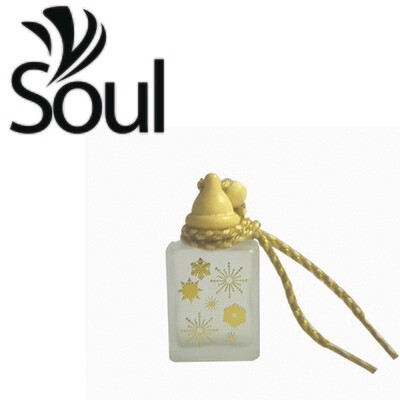 15ml - Car Perfume Bottle Square with Floral Design