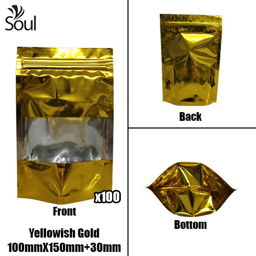 Triangle - Aluminium Side Seal Bag - Half - YG - 100x150+30
