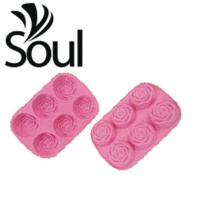 SM - 6x70g Soap Mould Rose Shape