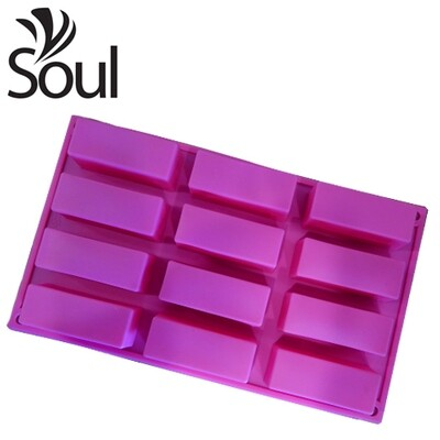 SM - 12x50g Soap Mould Rectangular Shape