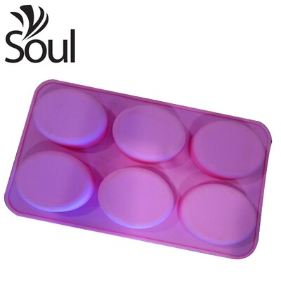SM - 6X80G Soap Mould Ovel Shape