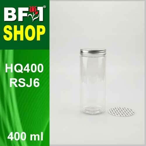 """400ml - HQ400RSJ6 - 65MM Pet Jar with """"Aluminium"""" Screw Cap"""