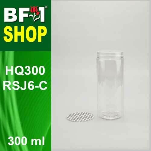 "300ml - HQ300RSJ6-C - 65MM Pet Jar with ""Plastic"" Screw Cap"