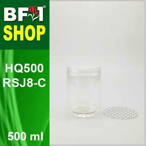 "500ml - HQ500RSJ8-C - 85MM Pet Jar with ""Plastic"" Screw Cap"