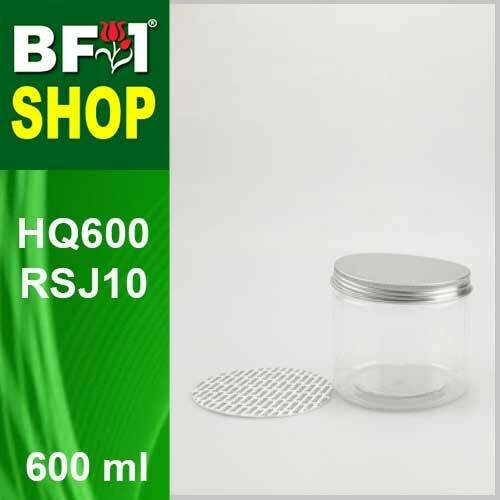 "600ml - HQ600RSJ10 - 100MM Pet Jar with ""Aluminium"" Screw Cap"