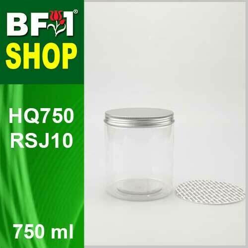 """750ml - HQ750RSJ10 - 100MM Pet Jar with """"Aluminium"""" Screw Cap"""