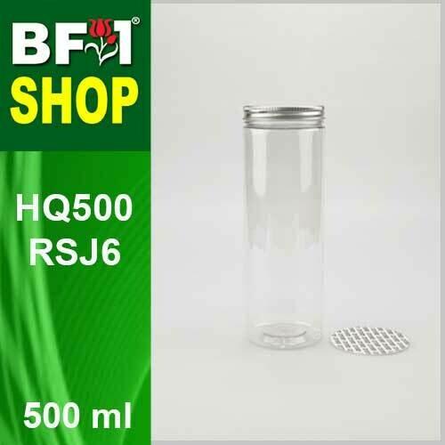 """500ml - HQ500RSJ6 - 65MM Pet Jar with """"Aluminium"""" Screw Cap"""