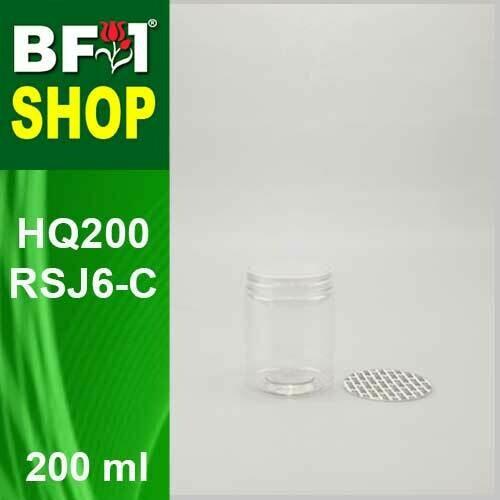 "200ml - HQ200RSJ6-C - 65MM Pet Jar with ""Plastic"" Screw Cap"