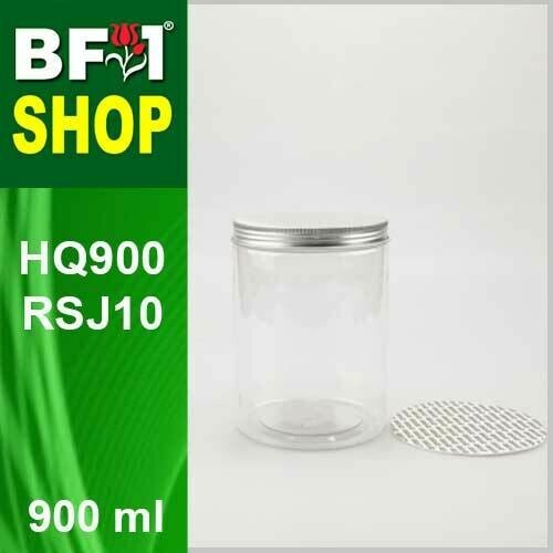 "900ml - HQ900RSJ10 - 100MM Pet Jar with ""Aluminium"" Screw Cap"