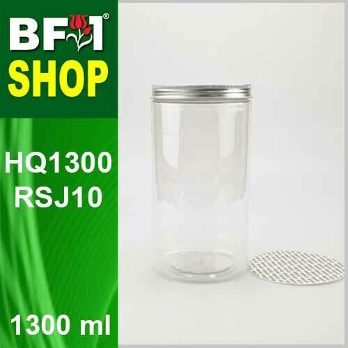 """1300ml - HQ1300RSJ10 - 100MM Pet Jar with """"Aluminium"""" Screw Cap"""
