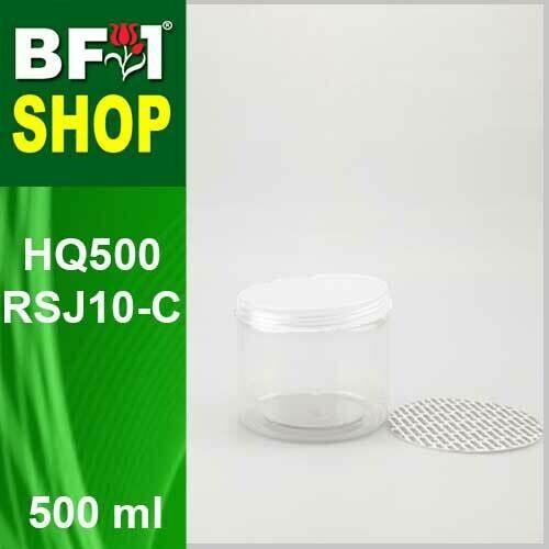 "500ml - HQ500RSJ10-C - 100MM Pet Jar with ""Plastic"" Screw Cap"