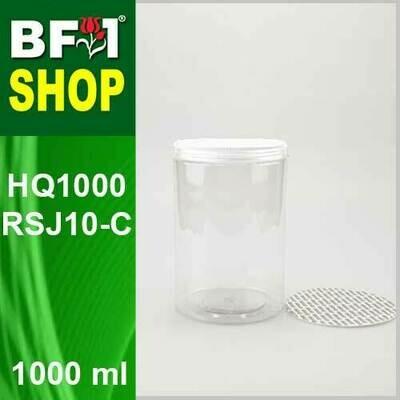 1000ml - HQ1000RSJ10-C - 100MM Pet Jar with