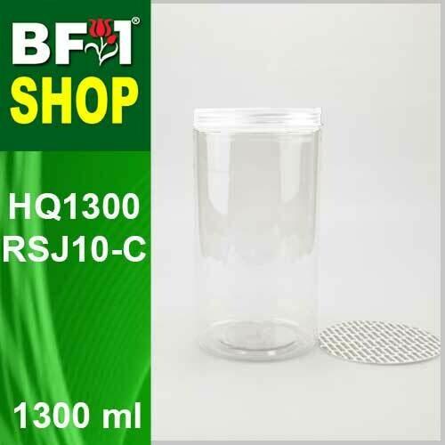 "1300ml - HQ1300RSJ10-C - 100MM Pet Jar with ""Plastic"" Screw Cap"