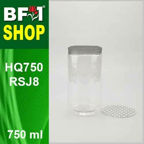 "750ml - HQ750RSJ8 - 85MM Pet Jar with ""Aluminium"" Screw Cap"