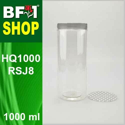 "1000ml - HQ1000RSJ8 - 85MM Pet Jar with ""Aluminium"" Screw Cap"