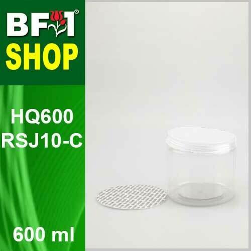 "600ml - HQ600RSJ10-C - 100MM Pet Jar with ""Plastic"" Screw Cap"