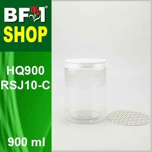 "900ml - HQ900RSJ10-C - 100MM Pet Jar with ""Plastic"" Screw Cap"