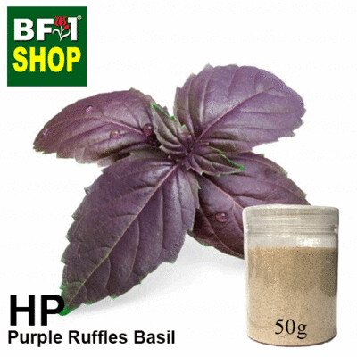 Herbal Powder - Basil - Purple Ruffles Basil Herbal Powder - 50g
