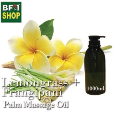 Palm Massage Oil - Lemongrass + Frangipani - 1000ml