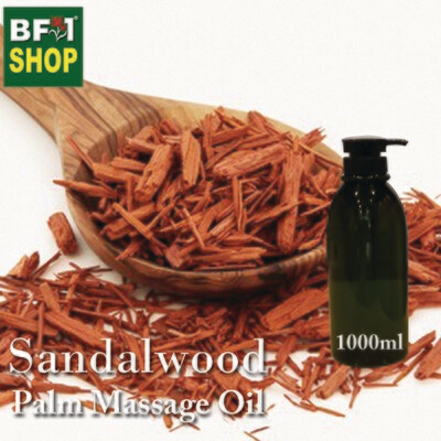 Palm Massage Oil - Sandalwood - 1000ml