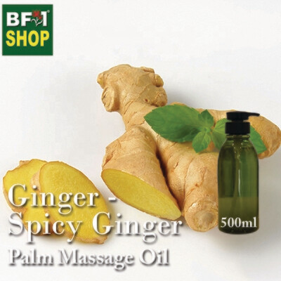Palm Massage Oil - Ginger - Spicy Ginger - 500ml