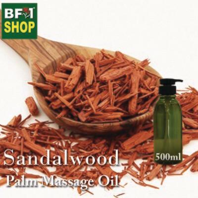 Palm Massage Oil - Sandalwood - 500ml