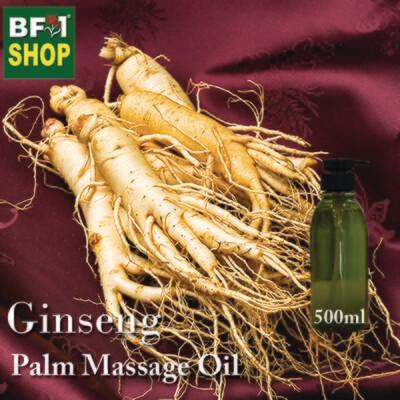 Palm Massage Oil - Ginseng - 500ml