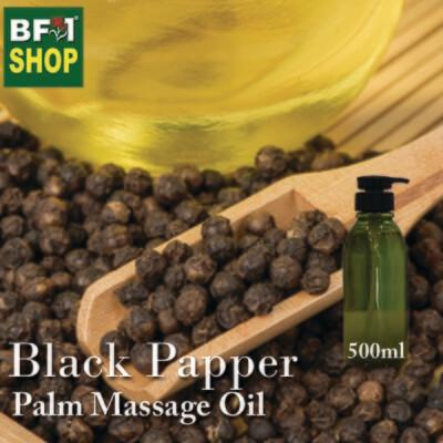 Palm Massage Oil - Black Papper - 500ml